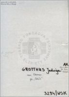 Grotthus Jadwiga