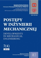 Postępy w Inżynierii Mechanicznej 2016, 7(4)