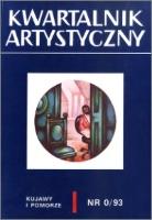 Kwartalnik Artystyczny : Kujawy i Pomorze 1993 nr 0