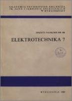 Zeszyty Naukowe Akademii Techniczno-Rolniczej im. Jana i Jędrzeja Śniadeckich w Bydgoszczy. Elektrotechnika, z.7 (146), 1988