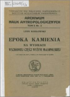Epoka kamienia na wydmach wschodniej części Wyżyny Małopolskiej