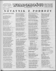 Wiadomości, R. 15 nr 12 (729), 1960