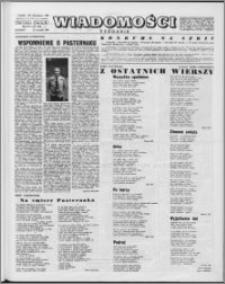 Wiadomości, R. 15 nr 37 (754), 1960