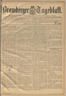 Bromberger Tageblatt. J. 20, 1896, nr 7