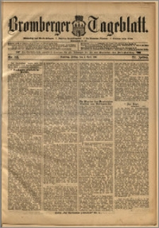 Bromberger Tageblatt. J. 22, 1898, nr 83