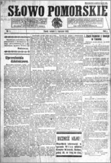 Słowo Pomorskie 1921.01.01 R.1 nr 1