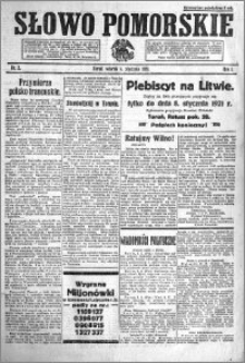 Słowo Pomorskie 1921.01.04 R.1 nr 2