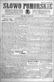 Słowo Pomorskie 1921.01.05 R.1 nr 3