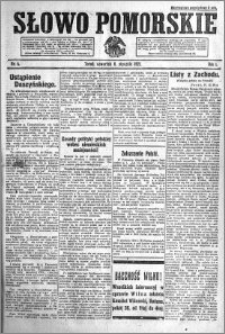 Słowo Pomorskie 1921.01.06 R.1 nr 4