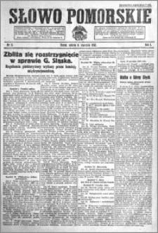 Słowo Pomorskie 1921.01.08 R.1 nr 5
