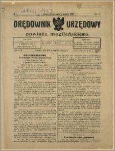Orędownik Urzędowy Powiatu Mogileńskiego, 1928 Nr 1