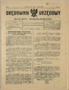 Orędownik Urzędowy Powiatu Mogileńskiego, 1928 Nr 9