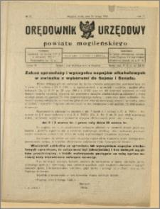 Orędownik Urzędowy Powiatu Mogileńskiego, 1928 Nr 13