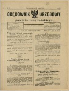 Orędownik Urzędowy Powiatu Mogileńskiego, 1928 Nr 17