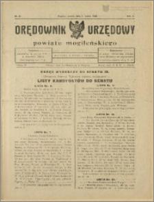 Orędownik Urzędowy Powiatu Mogileńskiego, 1928 Nr 18
