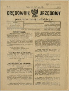 Orędownik Urzędowy Powiatu Mogileńskiego, 1928 Nr 19