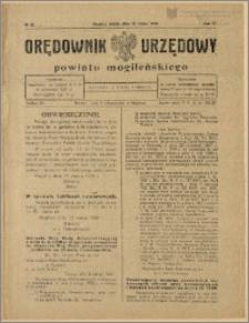 Orędownik Urzędowy Powiatu Mogileńskiego, 1928 Nr 22