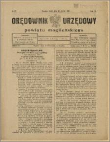 Orędownik Urzędowy Powiatu Mogileńskiego, 1928 Nr 23
