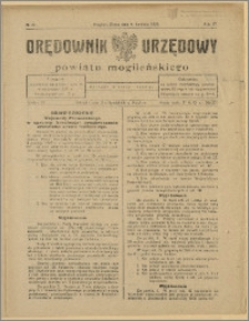 Orędownik Urzędowy Powiatu Mogileńskiego, 1928 Nr 27
