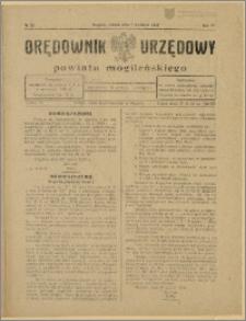 Orędownik Urzędowy Powiatu Mogileńskiego, 1928 Nr 28