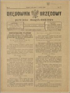 Orędownik Urzędowy Powiatu Mogileńskiego, 1928 Nr 29