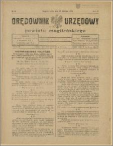 Orędownik Urzędowy Powiatu Mogileńskiego, 1928 Nr 31