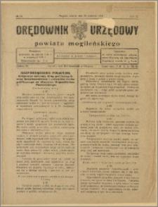 Orędownik Urzędowy Powiatu Mogileńskiego, 1928 Nr 34