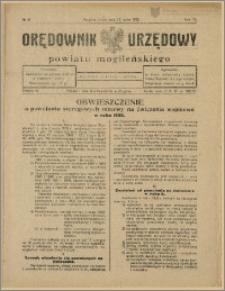 Orędownik Urzędowy Powiatu Mogileńskiego, 1928 Nr 41