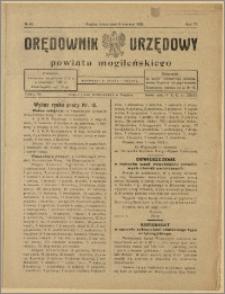 Orędownik Urzędowy Powiatu Mogileńskiego, 1928 Nr 45