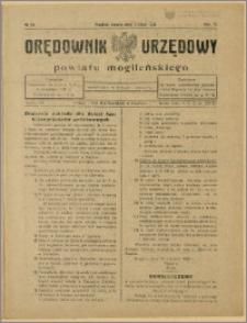 Orędownik Urzędowy Powiatu Mogileńskiego, 1928 Nr 54