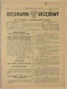 Orędownik Urzędowy Powiatu Mogileńskiego, 1928 Nr 56