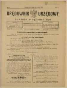 Orędownik Urzędowy Powiatu Mogileńskiego, 1928 Nr 69