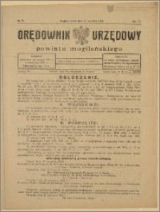 Orędownik Urzędowy Powiatu Mogileńskiego, 1928 Nr 73