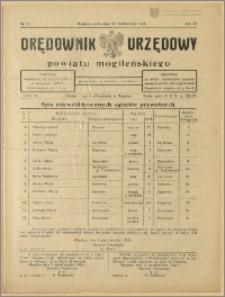 Orędownik Urzędowy Powiatu Mogileńskiego, 1928 Nr 81