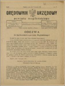 Orędownik Urzędowy Powiatu Mogileńskiego, 1928 Nr 89