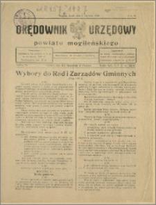 Orędownik Urzędowy Powiatu Mogileńskiego, 1929 Nr 1