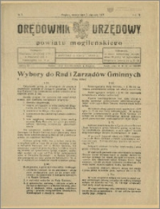 Orędownik Urzędowy Powiatu Mogileńskiego, 1929 Nr 2