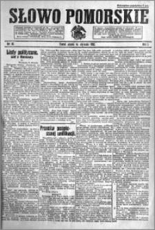 Słowo Pomorskie 1921.01.14 R.1 nr 10