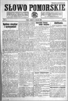 Słowo Pomorskie 1921.01.15 R.1 nr 11