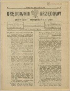 Orędownik Urzędowy Powiatu Mogileńskiego, 1929 Nr 7