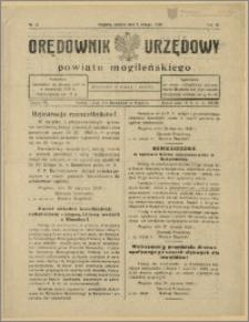 Orędownik Urzędowy Powiatu Mogileńskiego, 1929 Nr 10