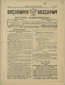 Orędownik Urzędowy Powiatu Mogileńskiego, 1929 Nr 13