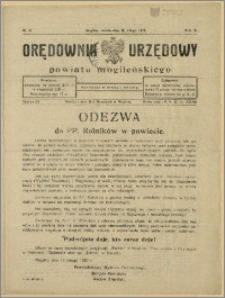 Orędownik Urzędowy Powiatu Mogileńskiego, 1929 Nr 14