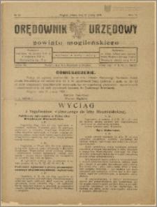 Orędownik Urzędowy Powiatu Mogileńskiego, 1929 Nr 22