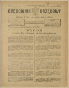 Orędownik Urzędowy Powiatu Mogileńskiego, 1929 Nr 23