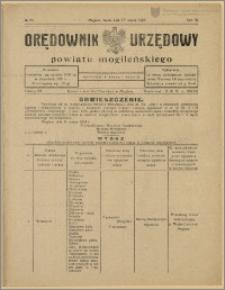 Orędownik Urzędowy Powiatu Mogileńskiego, 1929 Nr 25