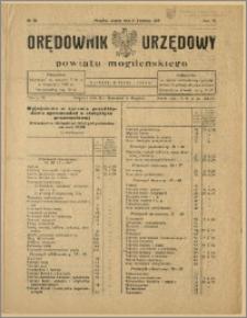 Orędownik Urzędowy Powiatu Mogileńskiego, 1929 Nr 28