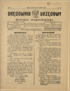Orędownik Urzędowy Powiatu Mogileńskiego, 1929 Nr 29