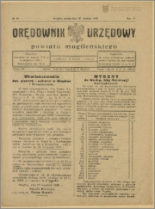 Orędownik Urzędowy Powiatu Mogileńskiego, 1929 Nr 32