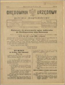 Orędownik Urzędowy Powiatu Mogileńskiego, 1929 Nr 33